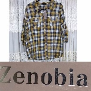 4dc53b84f6e Zenobia Tops - 💙Plaid Shirt XXXL New With Tags💙